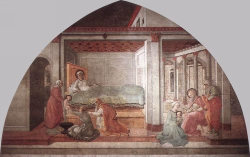 Birth and Naming St John by Frà Filippo Lippi