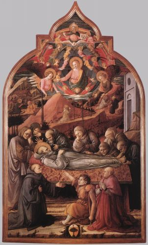 Funeral of St Jerome by Frà Filippo Lippi