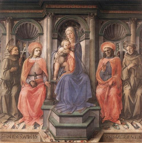 Madonna Enthroned with Saints by Frà Filippo Lippi