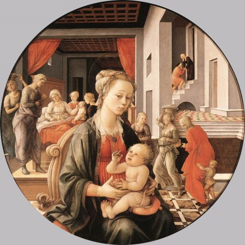 Virgin with the Child and Scenes from the Life of St Anne by Frà Filippo Lippi
