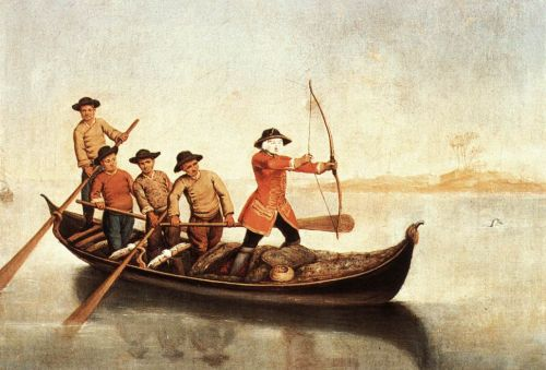 Duck Hunters on the Lagoon by Pietro Longhi