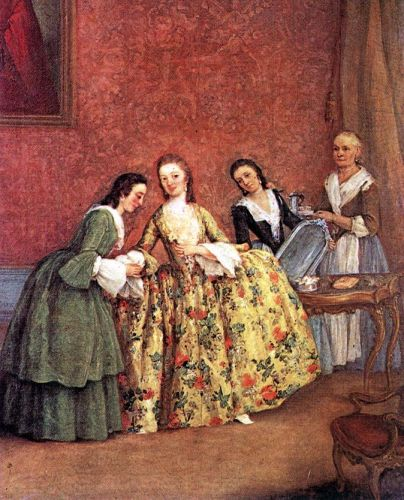 The Venetian Lady's Morning by Pietro Longhi