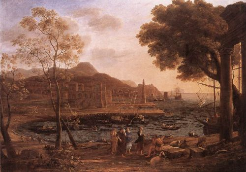 Harbour Scene with Grieving Heliades by Claude Lorrain