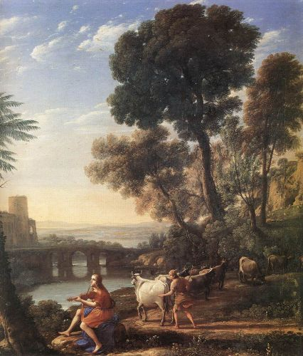 Landscape with Apollo Guarding the Herds of Admetus by Claude Lorrain
