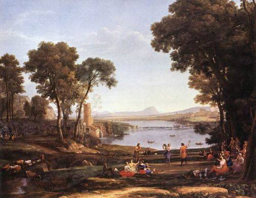 Landscape with Dancing Figures by Claude Lorrain