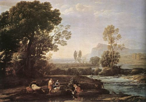 Landscape with Rest in Flight to Egypt by Claude Lorrain