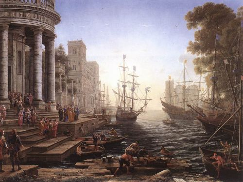 Port Scene with the Embarkation of St Ursula by Claude Lorrain