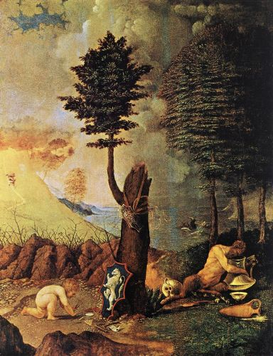 Allegory by Lorenzo Lotto