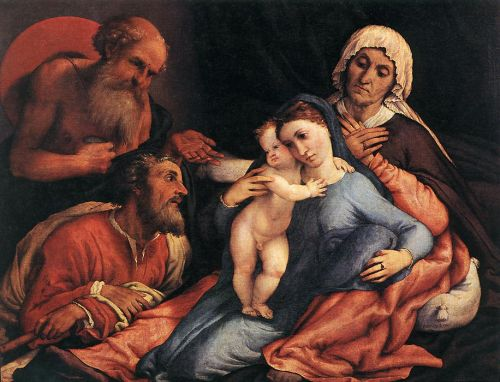 Madonna and Child with Saints by Lorenzo Lotto