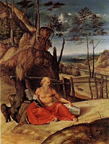 Penitent St Jerome by Lorenzo Lotto