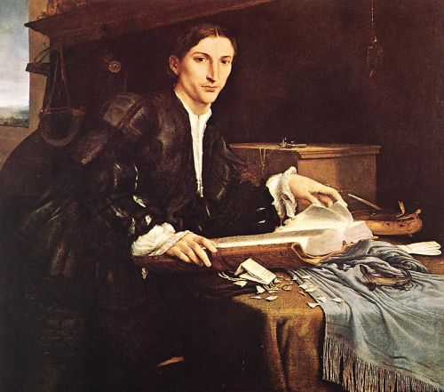 Portrait of a Gentleman in his Study by Lorenzo Lotto