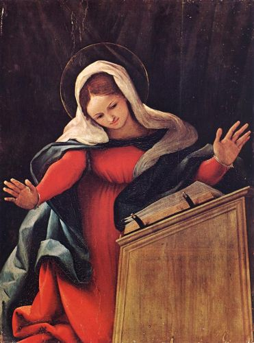 Virgin Annunciated by Lorenzo Lotto