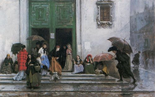 Coming out of Church by Raimundo de Madrazo y Garreta