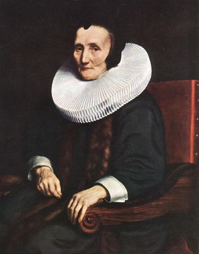 Portrait of Margaretha de Geer, Wife of Jacob Trip by Nicolaes Maes