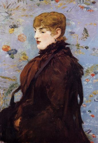 Autumn, Portait of Mery Laurent in a Brown Fur Cape by Edouard Manet