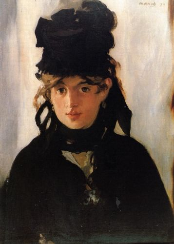 Berthe Morisot with a Bouquet of Violets, 1872 by Edouard Manet