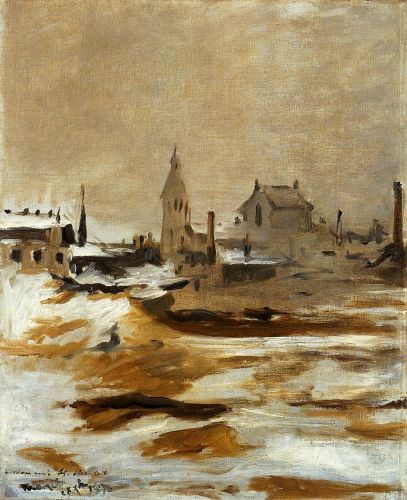 Effect of Snow at Petit-Montrouge by Edouard Manet