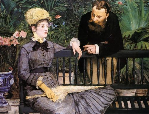 In the Conservatory, 1879 by Edouard Manet