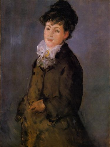 Isabelle Lemonnier with a White Scarf by Edouard Manet