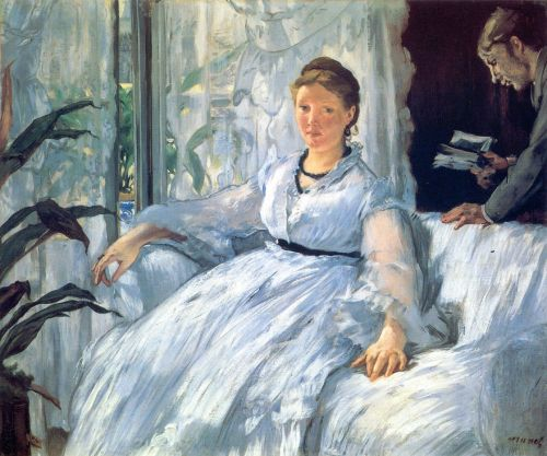 Madame Manet and Léon by Edouard Manet