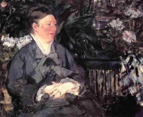 Madame Manet in the Greenhouse by Edouard Manet