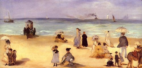 On the Beach at Boulogne by Edouard Manet