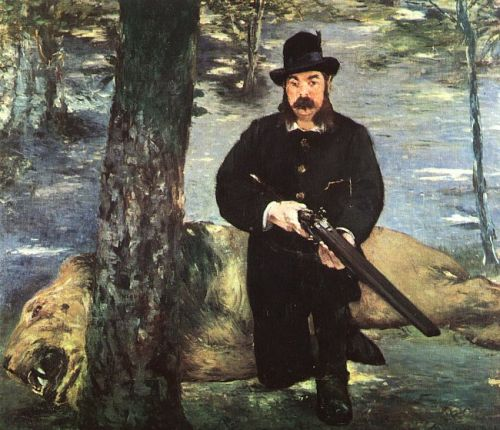 Pertuiset, Lion Hunter by Edouard Manet