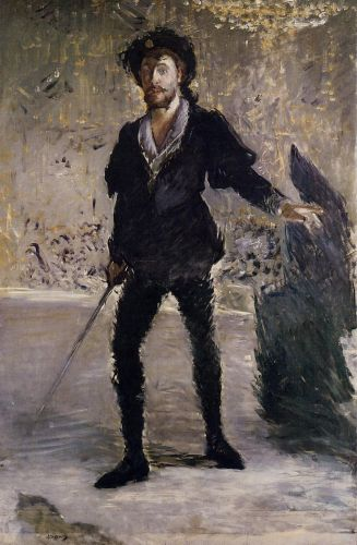 Portrait of Faure as Hamlet by Edouard Manet