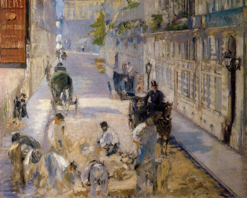 Rue Mosnier with Road Menders by Edouard Manet