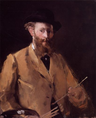 Self Portrait with Palette by Edouard Manet