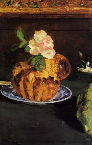 Still Life with Brioche by Edouard Manet