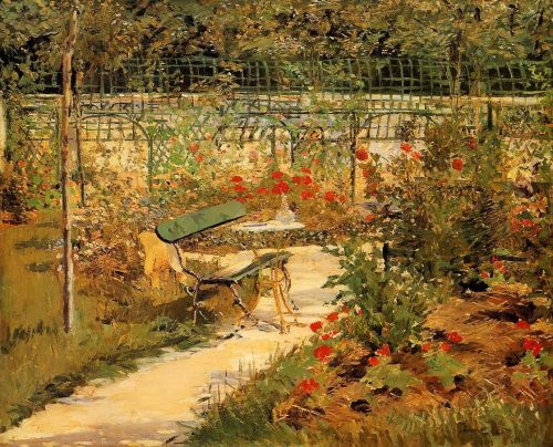 The Bench by Edouard Manet
