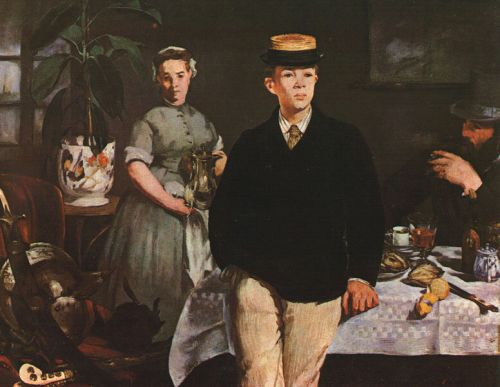 The Luncheon in the Studio by Edouard Manet
