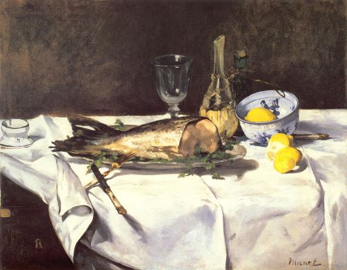 The Salmon by Edouard Manet