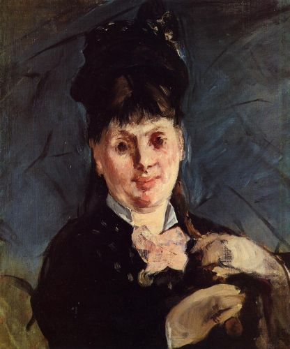 Woman with Umbrella by Edouard Manet