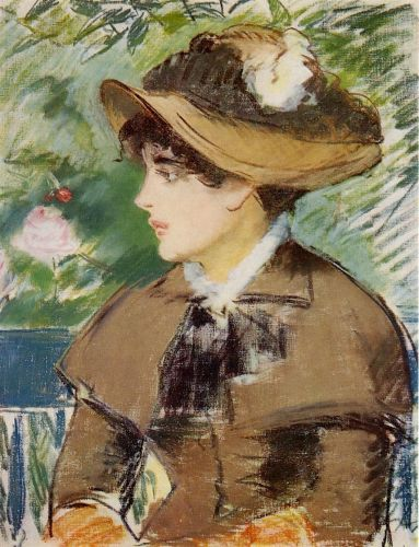 Young Girl on a Bench by Edouard Manet