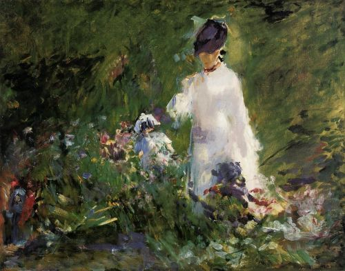 Young Woman among the Flowers by Edouard Manet