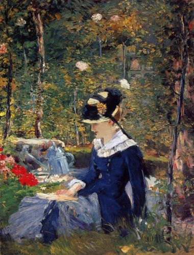 Young Woman in the Garden by Edouard Manet