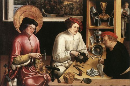 St Eligius in the Workshop by Niklaus Manuel