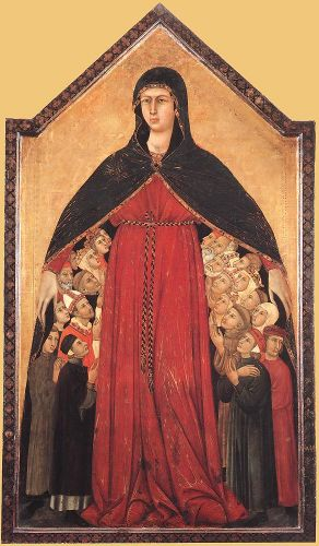 Madonna of Mercy by Simone Martini