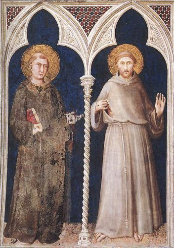 St Anthony and St Francis by Simone Martini