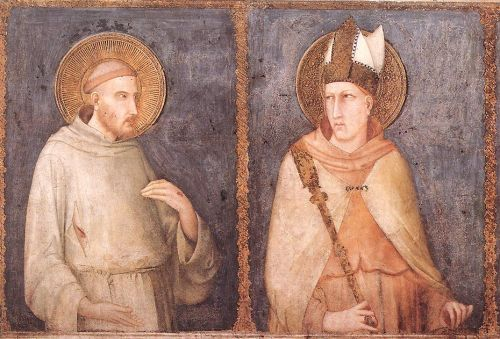 St Francis and St Louis of Toulouse by Simone Martini