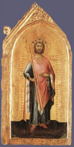 St Ladislaus, King of Hungary by Simone Martini