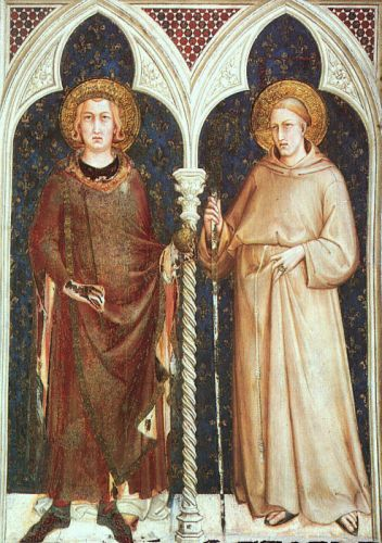 St Louis of France and St Louis of Toulouse by Simone Martini