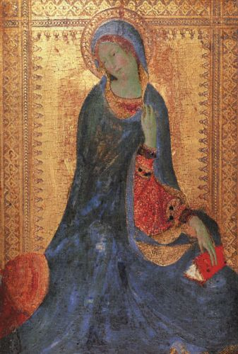 The Virgin of the Annunciation by Simone Martini