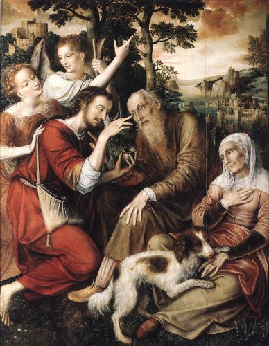 The Healing of Tobit by Jan Massys