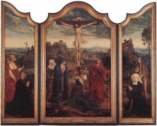 Christ on the Cross with Donors by Quentin Massys