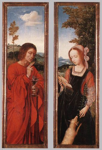 John the Baptist and St Agnes by Quentin Massys