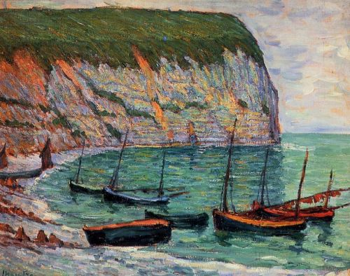 Fishing Boats on the Shore by Maxime Maufra