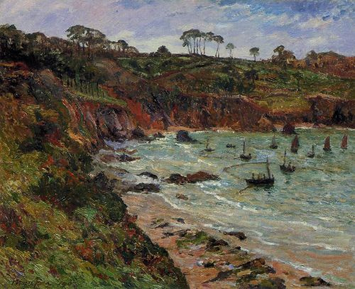 Fishing for sprats in Winter at Douarnenez by Maxime Maufra